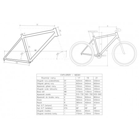 "Rower 28"" KANDS MAESTRO D MTB T AL. Alivio 19"" biały"