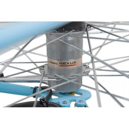 """Rower 28 VELLBERG NEXUS Madame Mintie 3-biegi 18"""" pistacja + Koszyk"""