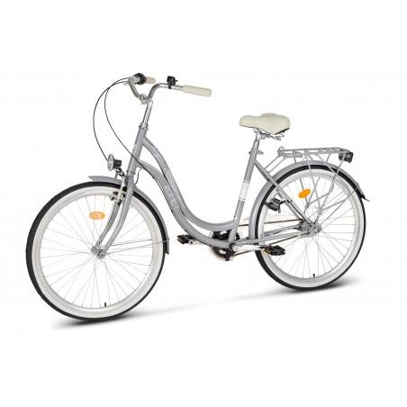 """Rower 28 VELLBERG NEXUS Madame Mintie 3-biegi 18"""" czarny + Koszyk"""