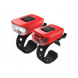 Lampa p+t KELLYS VEGA czerwona (red)