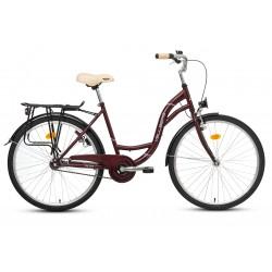 """Rower 26"""" VELLBERG CityLine TORPEDO wiśniowy + czarny"""