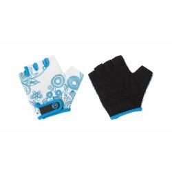 Rękawiczki dziecięce ACCENT Flowers Kids biało-niebieskie S/M