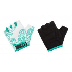Rękawiczki dziecięce ACCENT Flowers Kids biało-zielone S/M
