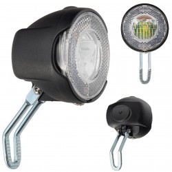 Lampa przednia /bateryjna/ VLB CITY 1 LED 1W na widelec 2F, czarna