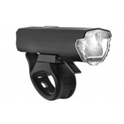 Lampa przednia /akumulator/ VLB VIGO USB LED 3W 200lm 1500mAh czarna