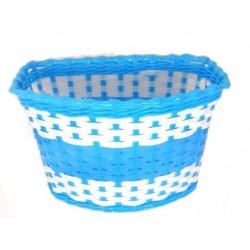 Koszyk na kierownicę dziecięcy plast. niebiesko-biały