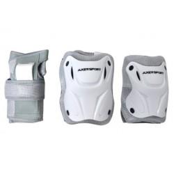 Ochraniacze kolan łokci nadgarstków komplet białe L