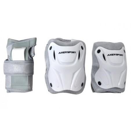 Ochraniacze kolan łokci nadgarstków komplet białe XL