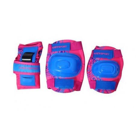 Ochraniacze kolan łokci nadgarstków komplet różowe XL