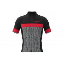Koszulka BIEMME Mortirolo full zip, kr.r, L czerwona