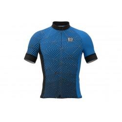 Koszulka BIEMME Angliru full zip, kr.r, L niebieska