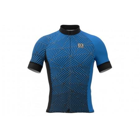 Koszulka BIEMME Angliru full zip, kr.r, M niebieska
