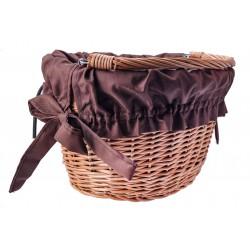 Wkładka do koszyka materiałowa, wodoodporna brązowa