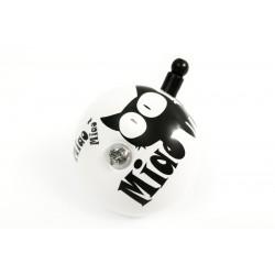 Dzwonek stal. 50mm czarno-biały KOT