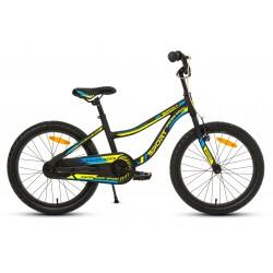 Rower 20 ROCK RACER Sport ALUM. czarno-nieb-żół mat.