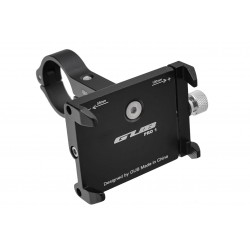 Uchwyt rowerowy na kierownię telefon smartfon GUB ALU czarny PRO-1 31,8mm