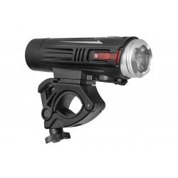 Lampa przednia /akumulator/ VLB ELBRUS 880lm Cree LED, 18650 2600mAh, USB, czarna
