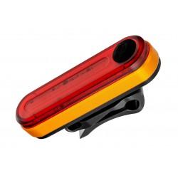 Lampa tylna /akumulator/ VLB PATHFINDER 6F 120lm 500mAh USB, pomarańcz-czerwona