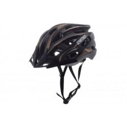 Kask rowerowy AWINA MOON czarno-złoty L 58-61cm