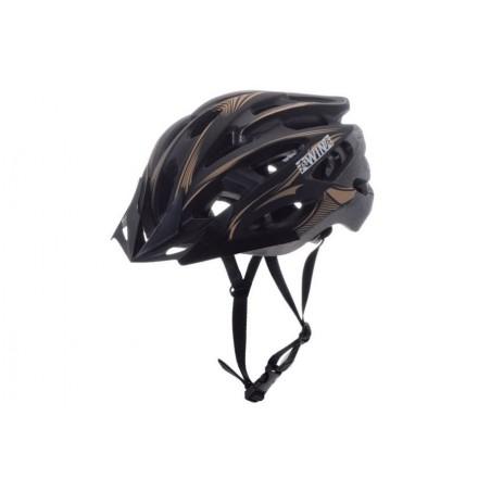 Kask rowerowy AWINA MOON czarno-złoty M 55-58cm