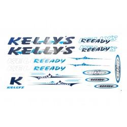 Naklejka KR4 - KELLYS  granat-niebieska
