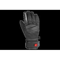Rękawice REUSCH MASTERY 9,5 czarne ze skórzaną wstawką