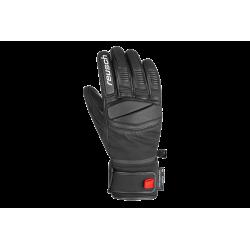 Rękawice REUSCH MASTERY 8 czarne ze skórzaną wstawką