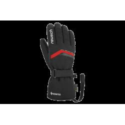 Rękawice REUSCH MANNI GTX 8 czarne z czerwoną wstawką