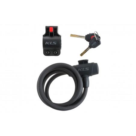 Zamknięcie spiralne na klucz KELLYS Coil Cable Lock 150cm diod. 2017 czarny mat