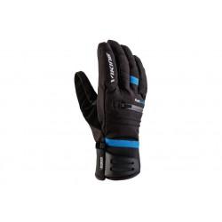 Rękawice VIKING ALPINE KURUK męskie 10 czarne z niebieskim paskiem
