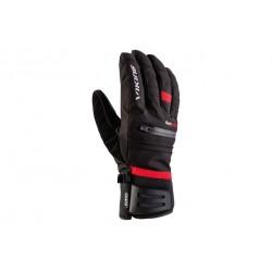Rękawice VIKING ALPINE KURUK MĘSKIE 10 czarne z czerwonym paskiem