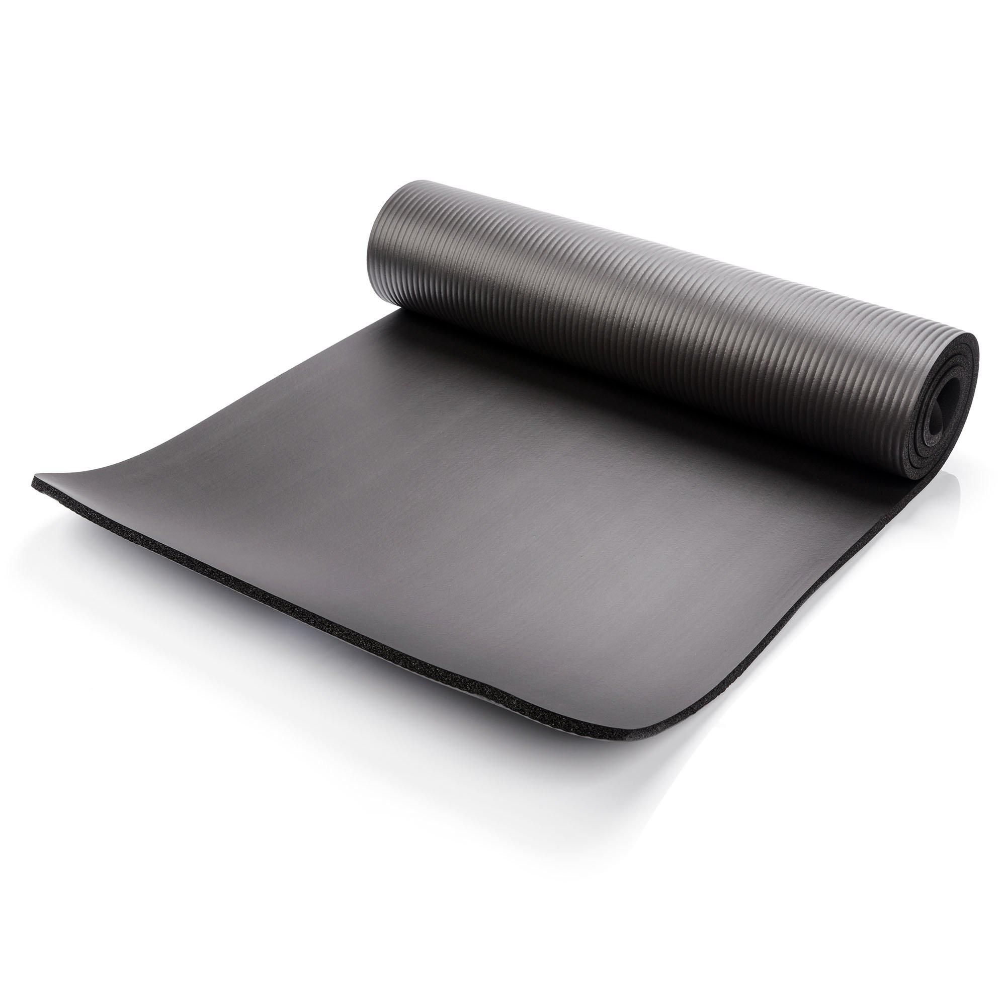 Mata do ćwiczeń gruba METEOR 183x61x1cm, czarna