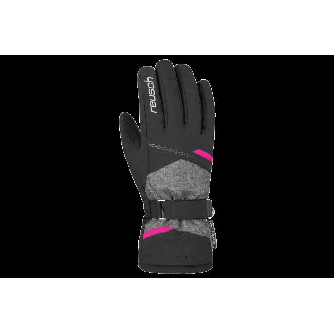 Rękawice Reusch Hannah R-TEX XT 7 czarne z różową wstawką