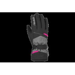 Rękawice Reusch Hannah R-TEX XT 6 czarne z różową wstawką