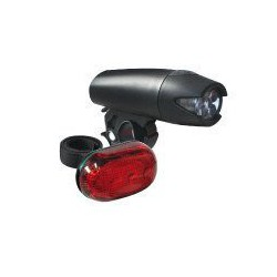 Lampa p+t /bateryjna/ AXER 5LED 2F + LED 3F, czarne+ baterie
