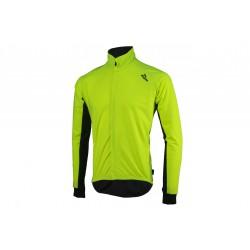 Koszulka ROGELLI ALL SEASONS kolarska wodo i wiatroszczelna dł. rękaw softshell i DWR M odblaskowa żółto-czarna