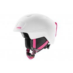 Kask UVEX HEYYA PRO white-pink mat 51-55 biało- różowy