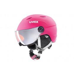 Kask uvex junior visor pro pink mat 54-56 różowy mat