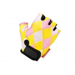 Rękawiczki dziecięce KROSS JOY M żółto-różowe