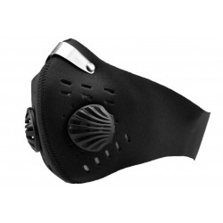 Maska antysmogowa FLEXYJOY sportowa pyłoszczelna FLB z wymiennym filtrem, czarna