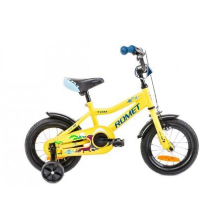 Rower 12 ROMET TOM żółto-niebieski 2021