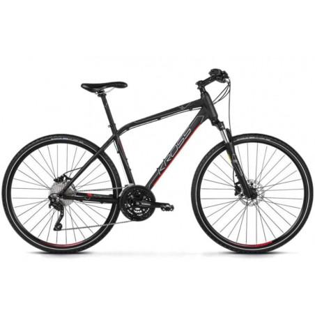 Rower 28 KROSS EVADO 7.0 M czarno-czerwony mat