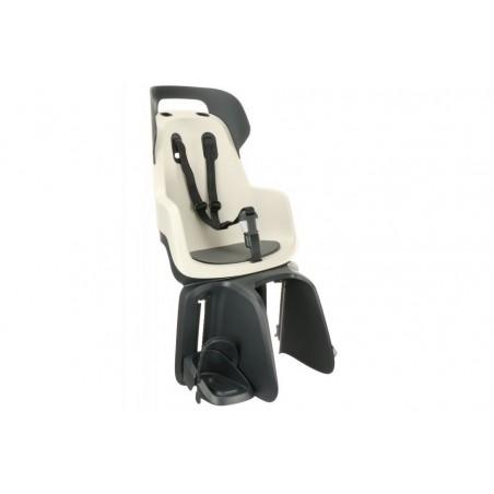 Fotelik dla dziecka BOBIKE GO na bagażnik vanilla cup cake/szaro-grafitowy