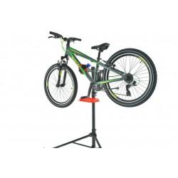 Stojak serwisowy do roweru warsztatowy, z półką na klucze, czarny