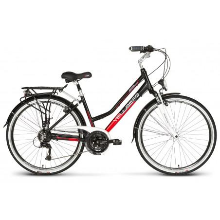 Rower 28 VELLBERG trekk. DISCOVER 1.1 D  Acera czarno-czerwony mat 17
