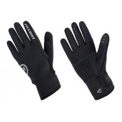Rękawiczki ACCENT Raindrop ocieplane dł.palce czarne XL