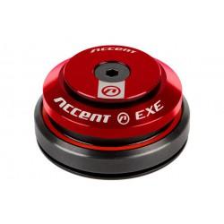 """Stery 1 1/8"""" zintegrowane ACCENT HI-EXE łoż. maszynowe IS42/IS42, czerwone"""