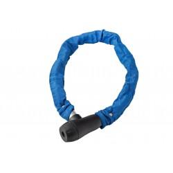 Zamknięcie na klucz ŁAŃCUCH 8x900mm w pokrowcu, niebieskie