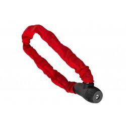 Zamknięcie na klucz ŁAŃCUCH 8x900mm w pokrowcu, czerwone