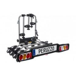 Bagażnik samochodowy na 4 rowery, na hak, Peruzzo PARMA uchylany, listwa ze światlami